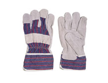 Candy Stripe Leather Palm Gloves